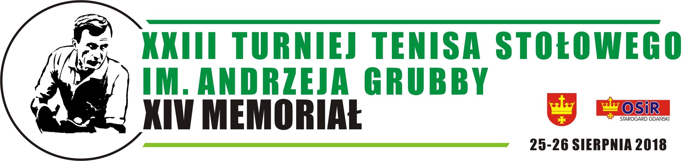 XXIII Międzynarodowy Turniej Tenisa Stołowego  XIV Memoriał im. A. Grubby