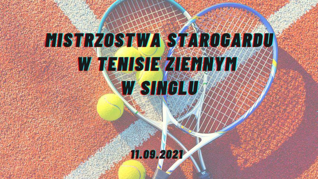 Mistrzostwa Starogardu Gd. w tenisie ziemnym SINGLE